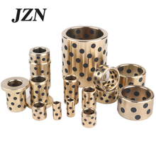 Buy JDB4020/4030/4040/4050/4060 inlaid graphite copper sleeve / oil-free bushings / self-lubricating oil bearing / copper sleeve