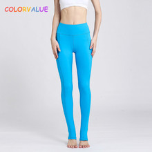 Buy Colorvalue Solid Series Sport Dance Foot Tights Women Quick Dry Seamless Yoga Pants Flexible High Waist Sport Fitness Leggings for $16.27 in AliExpress store