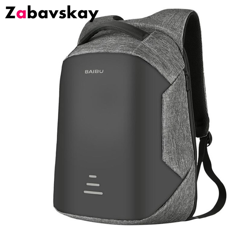 Fashion Laptop Backpack Anti Theft Backpack With Usb Charging Men School Notebook Bag Oxford Waterproof Travel Backpack  DJZ254<br>