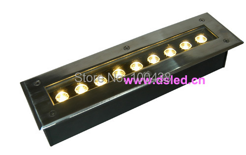 High power Linear 9W LED underground light,good quality,EDISON Chip,DS-11-21-9W,110V/220VAC,IP67,Aluminum fitting + SSL cover<br>