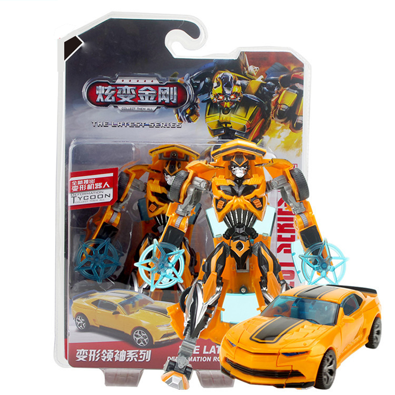 19 cm Super hot three classic creative interesting Bumblebee robot toy car cable deformation give children the best gifts<br><br>Aliexpress