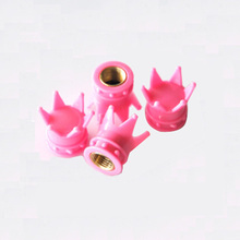 2017 New 4pcs Pink Crown Tyre Tire Valve Stems Air Dust Caps Cover Car Truck Wheel Rim