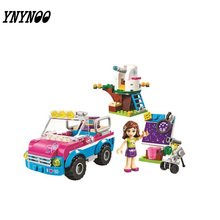 (YNYNOO)Friends 10555 Olivias Expeditions Auto Car Toys DIY Building Brick Toys Girls Gift Compatible 41116