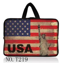 "USA Flag 17 15 14"" 13"" 12 10 7"" Notebook Sleeve Bag Computer Accessories Laptop Bags Cover For Dell Sony Lenovo Macbook Air Pro"