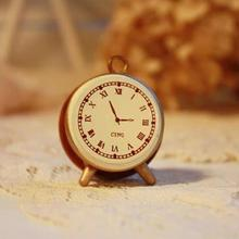 Free ship!1pc vintage retro style alarm clock small wooden stamp/DIY seal