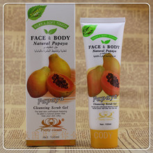 Face body natural papaya cleansing scrub gel 100ml(China)