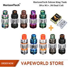 Originele HorizonTech Falcon King Tank Lamp Vape Tank 6 ML Verstuiver Met M1 + M-Dua Coil E CigaretteVS uwell Crown 4 Tank(China)