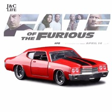 1:32 The Fast and Furious Chevrolet Camaro 1970 ss Car Model Metal Alloy Diecasts & Toy Vehicles Model Toy Car Children Toys