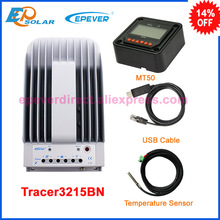 30A 12v/24v solar charge mppt controller Tracer3215BN 30amp MT50 remote meter USB cable+sensor cable EPEVER(China)