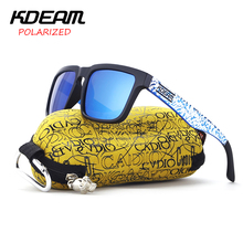 KDEAM 2017 Classical Sport Sunglasses Men polarized Square Sun Glasses Blue frame & Snow Design With Original Case KD901P-C20(China)