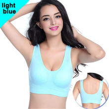 10 Color Plus size Professional Absorb Sweat Top Athletic Running Women Sports Bra Gym Fitness Seamless Padded Vest Tanks(China)