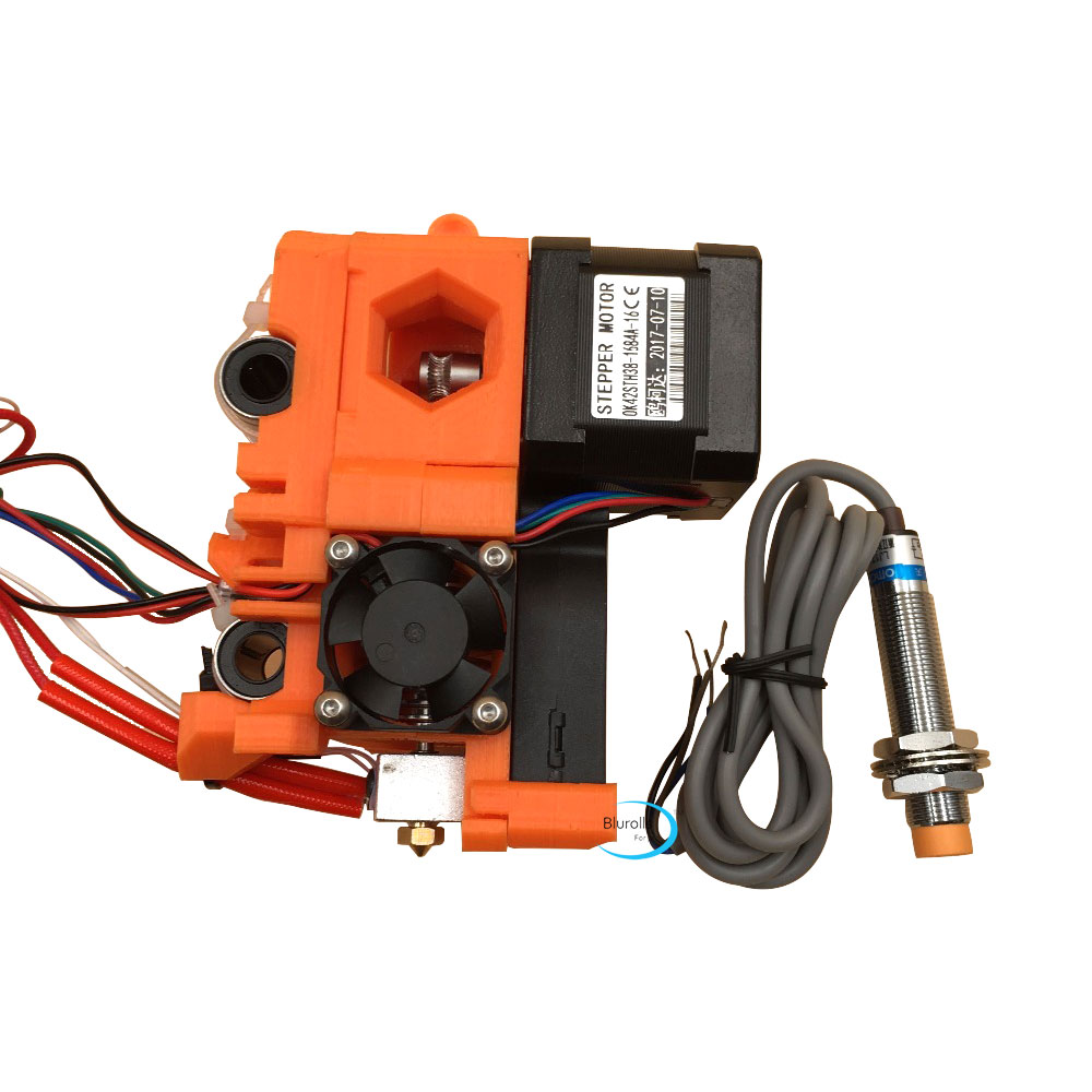 Reprap Prusa i3 MK2 extruder full kit, with hotend, X carriage, P.I.N.D.A. probe PLA printed parts