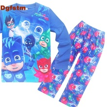 DGFSTM PJ MASKS Children Clothing Full Sleeves Sport Suit Cartoon Clothes for Girls Boys Christmas Gift Baby Christmas Outfits(China)