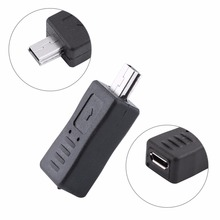 Micro USB Female to Mini USB Male charger Adapter Convertor Plug For Mobile Phones