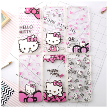 2016 Lovely Hello Kitty 3D Painted Soft TPU Phone Case For iphone 6 6plus Case,Silicone Clear Back  Cover For iphone 7 7 plus