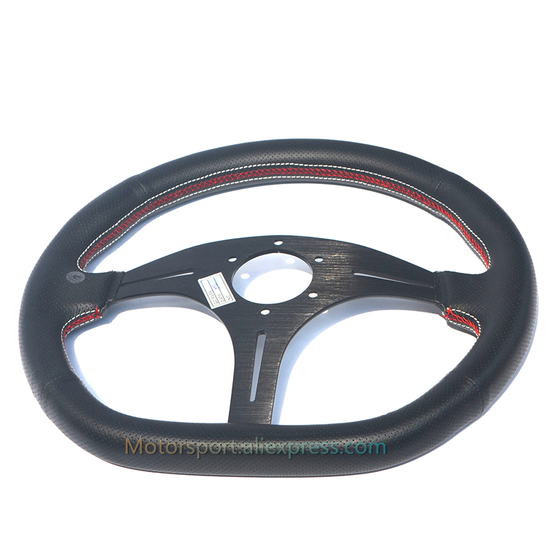 320mm Racing Sport Steering Wheel Silver PVC Leather Carbon Fiber For Toyota