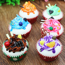 (5 pieces a lot)Simulation fruit chocolate cake refrigerator