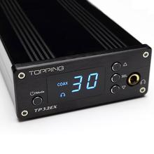 Topping TP32EX 50W*2 TK2050 Class T Amplifier Coaxial USB DAC Hifi Digital Headphone Amplifier 24bit/192kHz+Remote Control