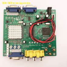 High Definition green CGA to VGA CVBS Arcade Game Video Converter Board for CRT LCD PDP Monitor