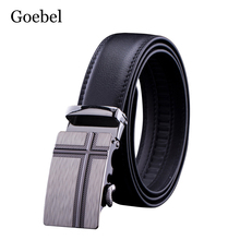 Goebel Luxury Men Black Belt All-Match Automatic Buckle Men's Business Belt Brand Fashion PU Leather Designer Mens Belts(China)