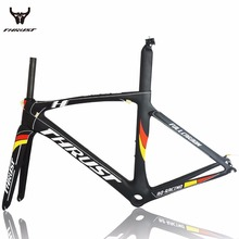 THRUST Carbon Road Frame 49 52 54 56 58 cm Road Bike Carbon Frame 700c PF30 Yellow Black 6 Color