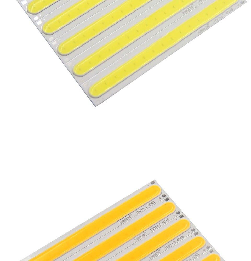 108x15MM 4W Warm Cool White COB LED Light Source Strip Bard Lights DC12V 500LM LED Lamp Bulb DIY Car House Lighting (3)