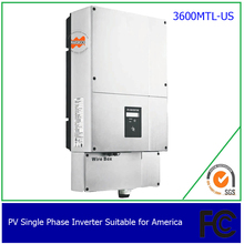 3600w single phrase, on grid, solar inverter for US,with 2 MPPT, transformerless, waterproof IP65