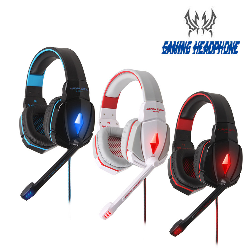 KOTION EACH G4000 Gaming Headset Wired earphone Game headphone with microphone led noise canceling headphones for computer pc<br><br>Aliexpress