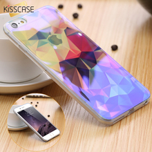 KISSCASE Art Print 3D Diamond Case For Apple iPhone6 6s 6 Plus 6S Plus Transparent Blue Ray Shell Case For iPhone 6S Plus Cover
