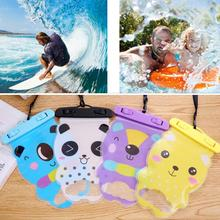 Outdoor tool Cartoon Bear Waterproof Case Clear Transparent Dustproof Dry Cellphone Bag Neck Strap iPhone 7 6S Plus Samsung - Sports Life Kingdom store