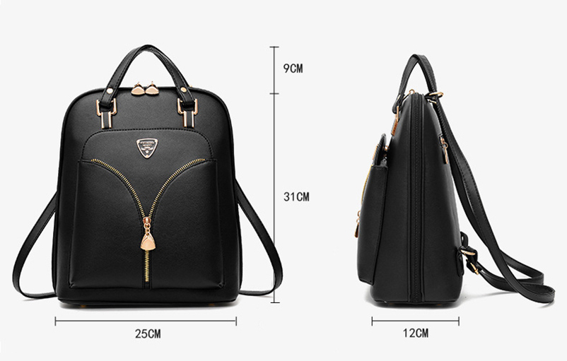 Nevenka Anti Theft Leather Backpack Women Mini Backpacks Female Travel Backpack for Girls School Backpacks Ladies Black Bag 201815