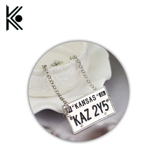 Supernatural jewelry Supernatural bracelet Dog tag bracelet KAZ 2Y5 License Plate Number Pendant  Vintage jewelry