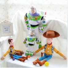 The toys story plush toys buzz lightyear doll big size 30\55cm Sheriff Woody  soft stuffed toy kids gift