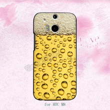 a glass of beer cool summer fashion hard plastic cell phone cases for HTC M7 M8 M9 M9plus A9 X9 cover case(China)