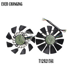 New Original EVERFLOW T129215SU DC 12V 0.5A VGA Card Cooling Fan For Graphics Card ASUS GTX780 GTX780TI R9 280 290 R9 280X 290X(China)