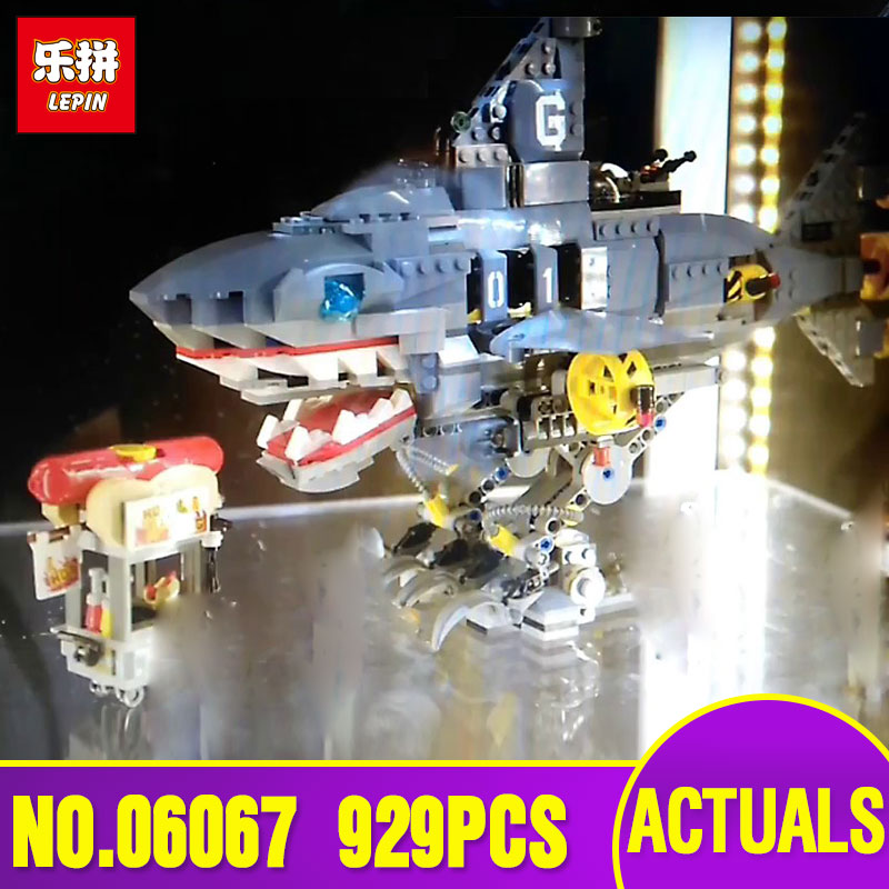 Lepin 06067 The Movies Series 929Pcs The Big Shark Set 70656 Building Blocks Bricks Funny Toys Model for children Christmas gift<br>