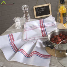 HAKOONA Red Stripes Table Napkins European Style Linen Cotton Grid Large Thicken Tea Towel   Mats 50*70cm Pads
