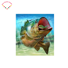 Magic crystal monster fish Diamond embroidery Diy Diamond painting round drill rhinestone pasted full Cross stitch crafts Needle