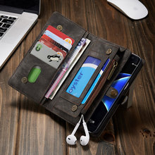 For Samsung Galaxy S7 Edge S7 Bags Multifunctional Zipper Wallet Split Genuine Leather Phone Case for Galaxy S7Edge Cover Shell(China)