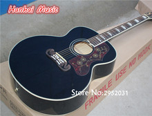 Free Shipping-43 Inch Folk Acoustic Guitar,Black Color,Red Pickguard,White Binding,Rosewood Fretboard and can be Customized