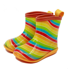 New fashion Baby Boys and Girls Cute Rain Boots Kids Cartoon Rubber Shoes 6 Candy Colors Children Waterproof Shoes