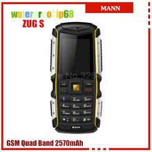 Original MANN ZUG S IP67 Waterproof Mobile Phone Rugged Outdoor Cell Phones old people phone Dual SIM card Bluetooth Russian(China)