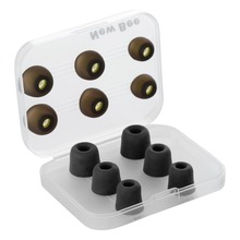 New Bee Replacement Noise Isolating 3 pairs Memory Foam tips & 3 pairs Silicone Earbuds Ear Pads for Headphone Earphone Black(China)