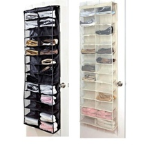 26 Pairs Shoes Rack Storage Organizer Over the Door Shoe Storage Bag Space Saver Rack Non-Woven Hanging Storage Bag(China)