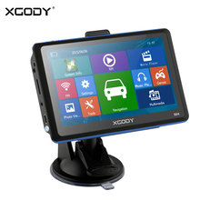 Xgody Car Navigation 5 Inch 504 Gps For Car And Truck 128m 8gb Bluetooh Rear Camera Tf Card Optional Navigator Free Update Map(China)