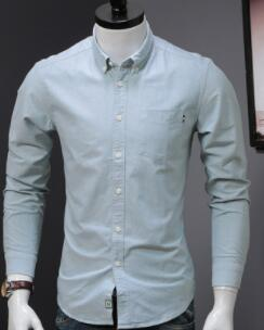 Autumn winter new Oxford long sleeve shirt men's casual shirt slim cotton men's shirt  GH12