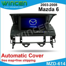 Car DVD GPS Player for old Mazda 6 from 2003-2008  with  GPS BT DVD USB SD automatic cover function free map+free shipping