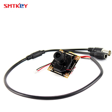 SMTKEY 700tvl CMOS color cctv mini camera with 3.6mm lens and cable(China)