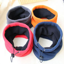 3in1 Winter Women Neck Warmer Thermal Scarf Men's Winter Face Mask Outdoor Solid Ski Beanie Hats Wear Collars Headwear(China)