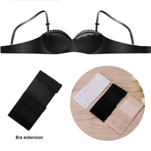 3 Pcs/set Adjustable Bra Extenders Soft Womens Ladies Bra Extension 2 Hooks Straps Underwear Strapless Color Random delivery(China)